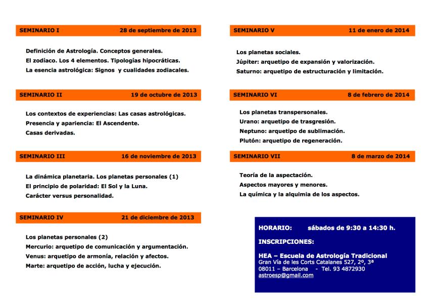 seminarios nivel I - 2013-14